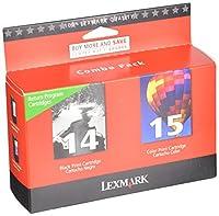 Lexmark #14 & #15 Black and Color Return Program Print Cartridges (18C2239) [並行輸入品]
