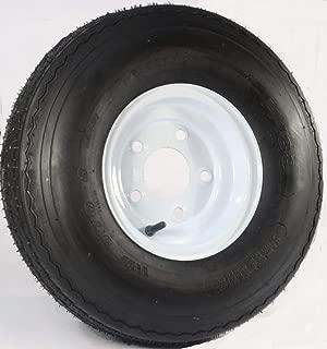 5.70x8 Loadstar Trailer Tire LRC on 5 Bolt White Wheel