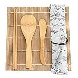 Vcriczk Kit De Herramientas De Sushi, Juego De Sushi De Bambú Lavable para El Hogar para La Tienda De Sushi