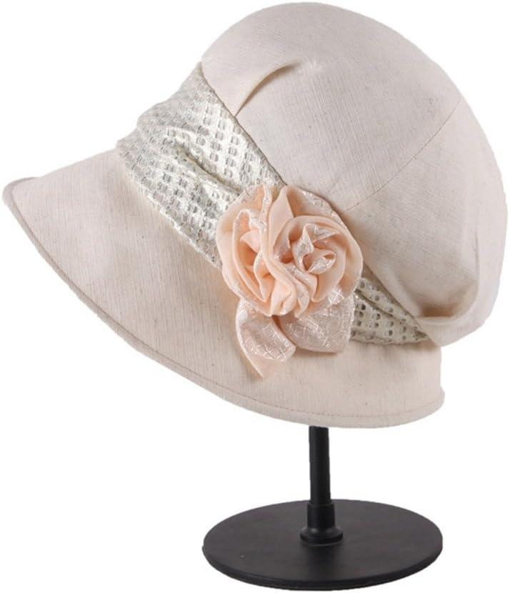 Hat Summer Beret Ladies Outdoor Hat Windproof Sunscreen Uv Protection Travel Cap Accessories (Color : Beige)