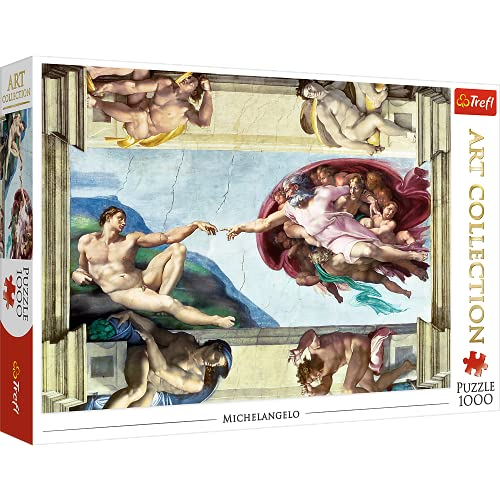 Trefl- Die Erschaffung Adams 1000 Teile, Premium Quality, für Erwachsene und Kinder AB 12 Jahren Puzle, Multicolor (10590)