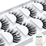 ICYCHEER 5 Pairs/Box Makeup False Eyelashes Set 3D Real Mink Thick Long 100% Siberian Mink Soft Handmade Thick Fake Eye Lashes Extension