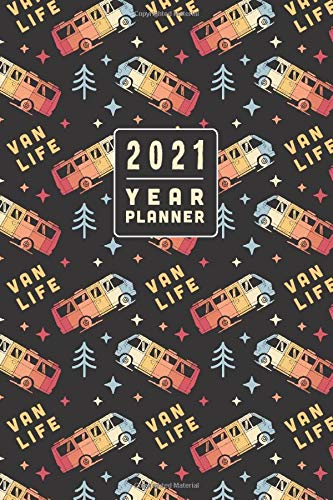Camper Van Planner 2021. Retro Van Life Diary: US Holiday Edition. 6