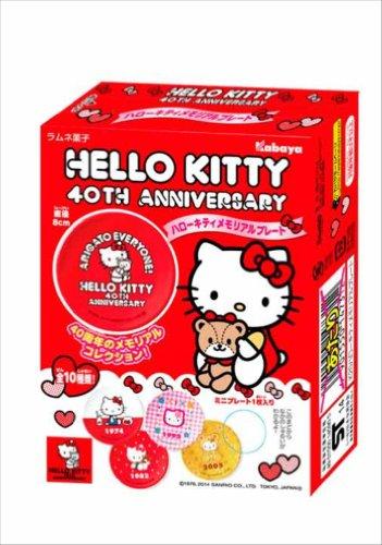 Hello Kitty placa conmemorativa 10 piezas CAJA (Juguetes del caramelo y refrescos)