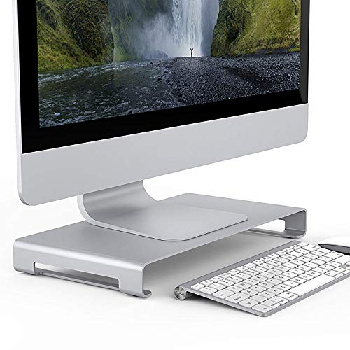 Portable Aluminum Monitor Stand Metal Computer Universal Desktop Stand Table Stand for Computer PC and Laptops