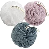 Perfect size loofahs weighing 60g and approx. 4.9 inches Team with any bath soap or body wash to create a rich lather Quality shower puffs loofa bath sponges at an affordable price Soft mesh for cleaning your body and gently exfoliating your skin Gre...