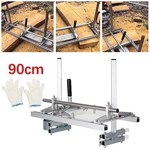 TOPQSC Kettensäge Mühle 36 Zoll Tragbare Chainsaw Mill Aluminium Stahl Planking Fräsbar Größe von Mig Schweißsägen für 14
