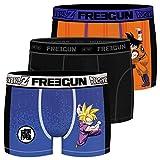 FREEGUN Lot de 3 Boxers Homme Dragon Ball Z Aktiv Goku et Gohan