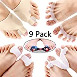 Volwco 9 PCS Bunion Correctors and Toe Straightener Set, 5 in 1 Bunion