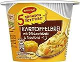 Maggi 5 Minute Terrine Puré de papas con cebollas asadas y picatostes, paquete de 8 (8 x ...