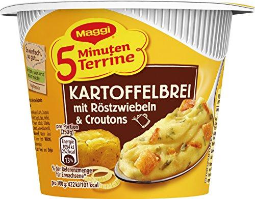 Maggi 5 Minute Terrine Puré de papas con cebollas asadas y picatostes, paquete de 8 (8 x 56 g)