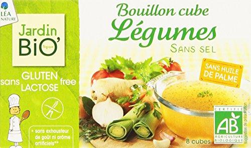 Jardin Bio Bouillon Cube Légumes sans Sel sans Gluten 72 g