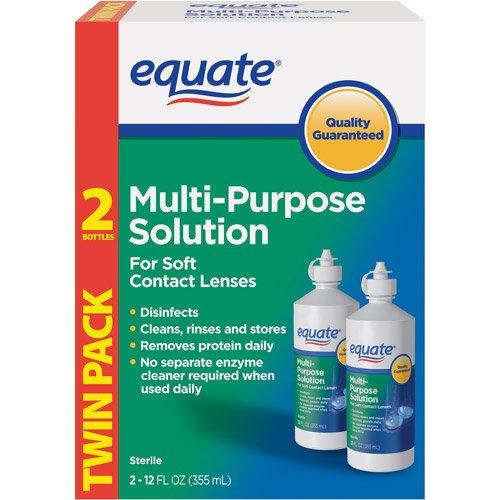 Price comparison product image Equate Multi-Purpose Solution Twin Pack 2-12 oz (355 ml)