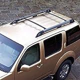 Baca Coche Universal Rack de techos para 2005 2006 2007 2008 2009 2010 2011 Nissan Pathfinder Aluminum Auto Top Cross Barras en la azotea Tabipo de equipaje Rack de carga 1