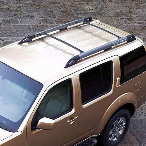 Baca Coche Universal Rack de techos para 2005 2006 2007 2008 2009 2010 2011 Nissan Pathfinder Aluminum Auto Top Cross Barras en la azotea Tabipo de equipaje Rack de carga Barras Techo Coche