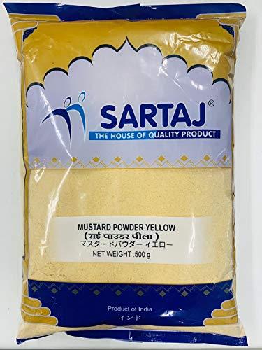 マスタードパウダーイエローサルタージ-500gm Mustard powder yellow SARTAJ からし 粉末 スパイス 香辛料 業務用 ????? ?? ????? ???? ?????