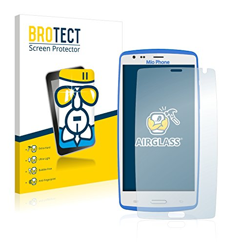 BROTECT Panzerglas Schutzfolie kompatibel mit Gruppo Lisciani Mio Phone (2016) - AirGlass, extrem Kratzfest, Anti-Fingerprint, Ultra-transparent