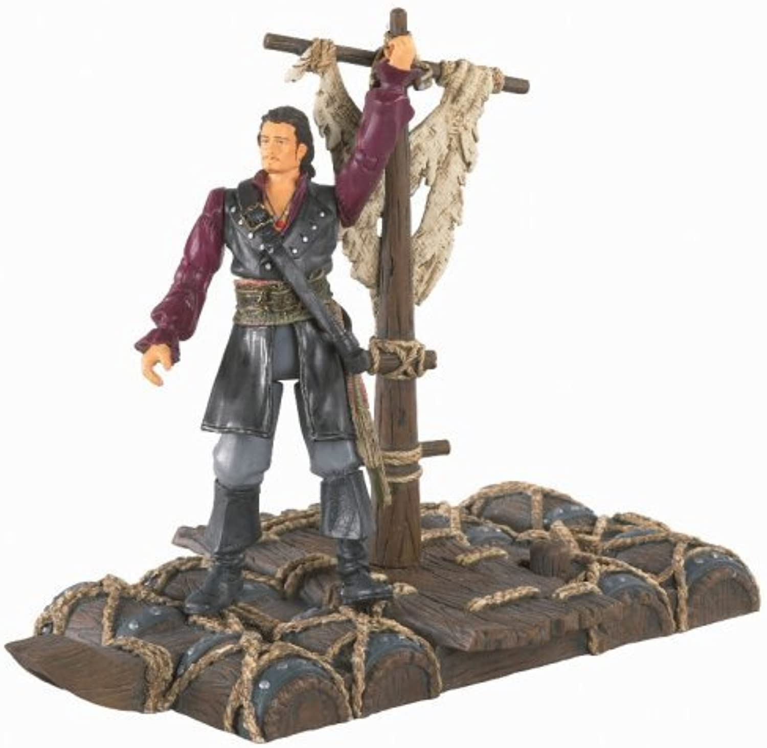 Pirates Of The Carribean 3  at World's End - Will Turner with Spinning Powder Keg Raft by Zizzle
