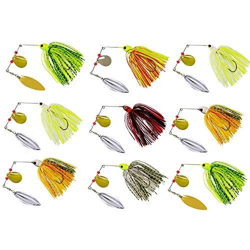 Fishing Spinner Baits Kit - Hard Spinner Lures Multicolor Buzzbait...