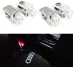 4 Pcs Double Interface Design Car Door LED Logo Projector Ghost Shadow Lights Compatible With Audi A4 A3 A6 Q7 Q5 A1 A5 TT A8 Q3 A7 R8 RS