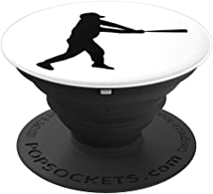 Baseball Silhouette Man  PopSockets Grip and Stand for Phones and Tablets