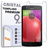 REY Protector de Pantalla para Motorola Moto E4, Cristal Vidrio Templado Premium