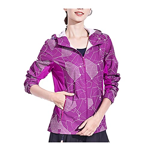 Ropa de mujer impresa al aire libre protector solar capucha pañuelo ultra delgado impermeable, transpirable y de secado rápido