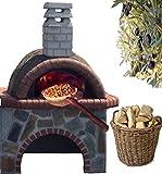 Madera del Horno con bajo mesa Smart?Horno para pizza Piedra Natural Colorato