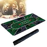 HIMABeauty Alfombra de Póker Profesional, Tapete Cartas Poker, Plegable Antideslizante de 0.2 Cm de Grosor con Bolsa De Transporte, 120 * 60 Cm/47 * 23 Pulgadas,180 * 90 * 0.2,Style Two