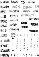 イタリア語透明クリアシリコンスタンプシールDIYスクラップブッキングフォトアルバム装飾クリアスタンプW1275