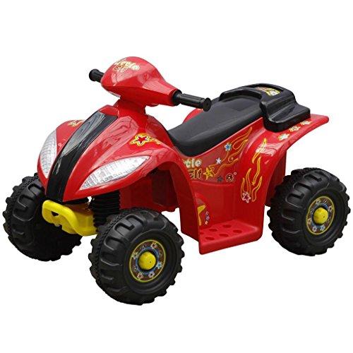 Luckyfu Mini moto quad elettrica per bambini, rosso e nero.macchina elettrica per bambini ruote macchina elettrica macchina elettrica per bambini con telecomando