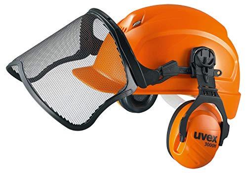 Uvex 9774233 Schutzhelm für die Arbeit mit Kettensägen & Waldarbeit - Orange