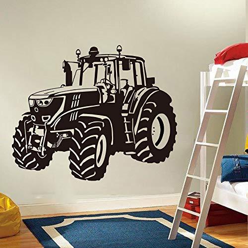 JXFM Bauernhof Fahren Traktor Wandaufkleber Kindergarten Kinderzimmer Cartoon Traktor LKW Auto Fahrzeug Wandtattoo Spielzimmer Vinyl Dekoration56x37cm