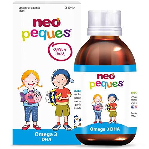 Neo Peques | Jarabe Infantil Omega3 - 150 ml | A Base de extracto de Atún, DHA, magnesio y Vitaminas | Tomar 0,5 ml/kg de peso corporal | Dosis diaria máxima 20 ml | Apto a partir de los 6 meses