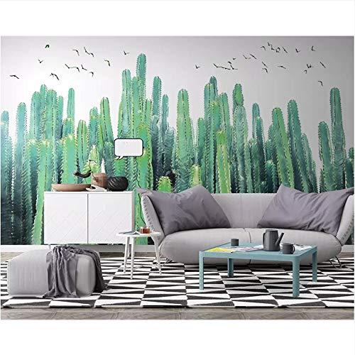 Meaosy aangepaste foto behang Scandinavische hand beschilderde Cactus tropische plant tv achtergrond muurschildering behang 3D behang 400x280cm