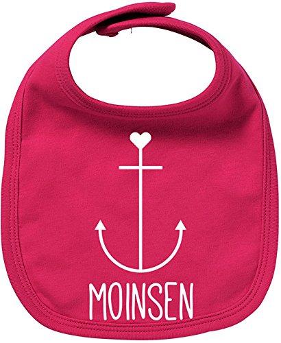 EZYshirt® Moinsen | Hamburg | Moin Moin | Anker Bio Baumwolle Baby Lätzchen