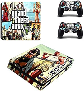 ANIK RANGANATHAN PS4 Slim Unique Skin Decal Stickers Set for PlayStation Console Controllers Real Life Game HD Printing