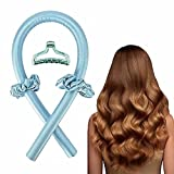 Heatless Hair Curlers For Long Hair, No Heat Silk Curls Headband You Can To Sleep In Overnight, Soft Foam Hair Rollers, Curling Ribbon and Flexi Rods for Natural Hair…