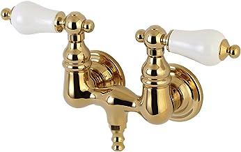 صنبور حوض استحمام من Kingston Brass AE35T2 Vintage 3-3/8 بوصة بطول 2-7/8 بوصة من النحاس المصقول