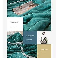 フランネルフリースブランケットスローは、洗えるソフトのウォームは、ソファやベッドの毛布のためのマイクロファイバー毛布をスローします フランネルブランケット (Color : Green, Size : 200x230cm)