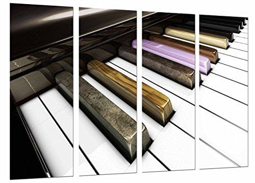 Cuadro Fotográfico Teclas Piano, Decoracion Musical toque Color Tamaño total: 131 x 62 cm XXL