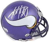 Adrian Peterson Autographed Minnesota Vikings Mini Helmet- Fanatics Auth - Autographed NFL Mini Helmets