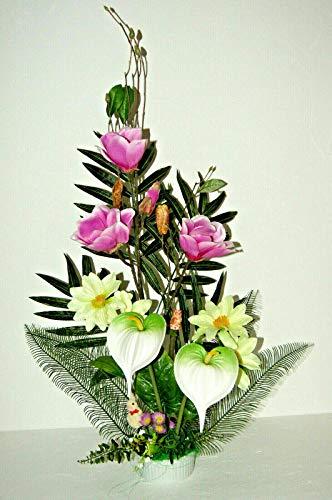 tatjana-land-deko Exk. Magnolien Kunstblume Tischdeko Geschäft Büro Dekoration Arrangement LN16-05