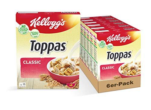 Kellogg's Toppas Classic Cerealien | 6er Vorratspack | 6 x 330g