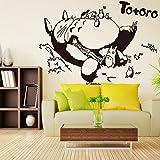 Posuty Wall Decal Totoro Sleeping Totoro TV Setting Wall Stickers Anime Curtilage Hayao Miyazaki Totoro