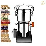 Hiyougen Usines de Grain électriques, Machine Ultra Fine de Poudre de céréale/pulvérisateur 220V de Farine de Type pour Grains de café d'épice de médecine d'herbe de Grain d'épice (1500g /3.3lb)