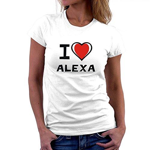 Teeburon I Love Alexa Camiseta Mujer