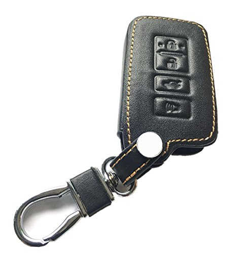 RPKEY Leather Keyless Entry Remote Control Key Fob Cover Case Protector Replacement Fit for 2014 2015 2016 2017 Toyota Avalon Camry Corolla RAV4 Highlander HYQ14FBA 89904-06140 1551A-14FBA