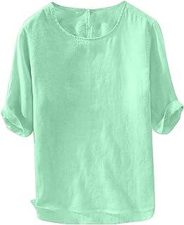 Aster JaKi メンズ トップス 夏 通気 柔らかい 半袖 Tシャツ ゆったり 大きいサイズ カジュアル 快適 無地 カットソー