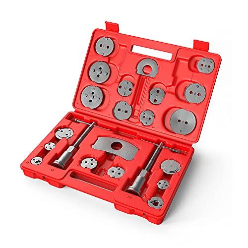 MOPSTLUS 22 TLG. Universal Bremskolbenrücksteller Set Bremssattel Kolben Wind Zurück Tool Kit Bremse Instandsetzung Werkzeug Bremskolben